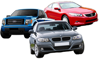 A Ford F-150, a BMW 3-Series, and a Honda Accord Coupe